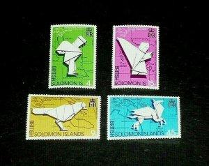 SOLOMON ISLAND, #272-275, 1974, UNIVERSAL POSTAL UNION, SINGLES, MNH, NICE, LQQK