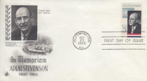 1965 Adlai Stevenson (Scott 1275) FDC Artcraft