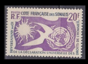 1958 Cote Francaise de Somalis 319 10 years Universal Declaration of Human Right