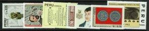 Peru SC# 1019-1024, Mint Never Hinged - S11903