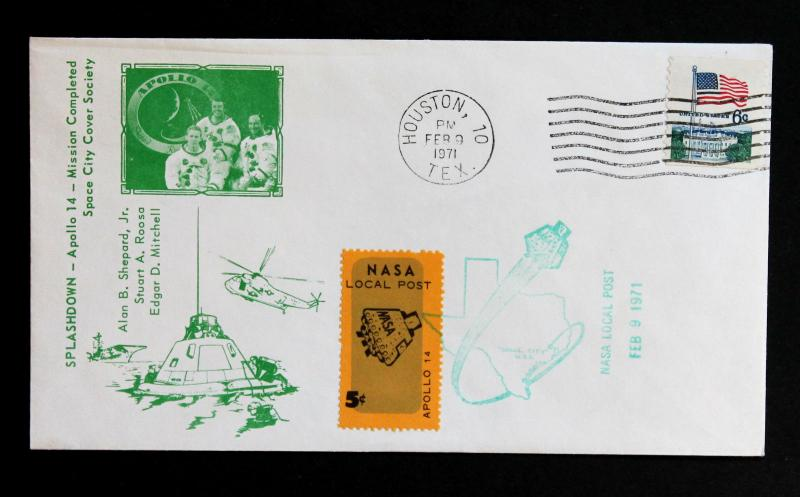 US Error EFO Sc# 1338  Black Strip on Flag  Apollo 14 Mission 02/09/1971.
