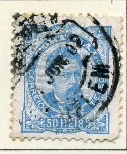 PORTUGAL;  1887 early Luis issue classic used 50r. value