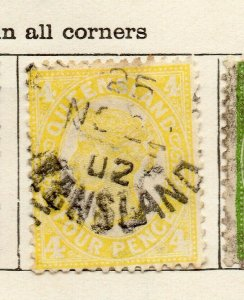Queensland 1897 Early Issue Fine Used 4d. NW-113706