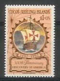 Cocos Is - 1992 500th Anniv of the Discovery of America by Columbus (MNH)