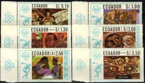 Ecuador #759-759E MNH CV $6.05 (X1327)