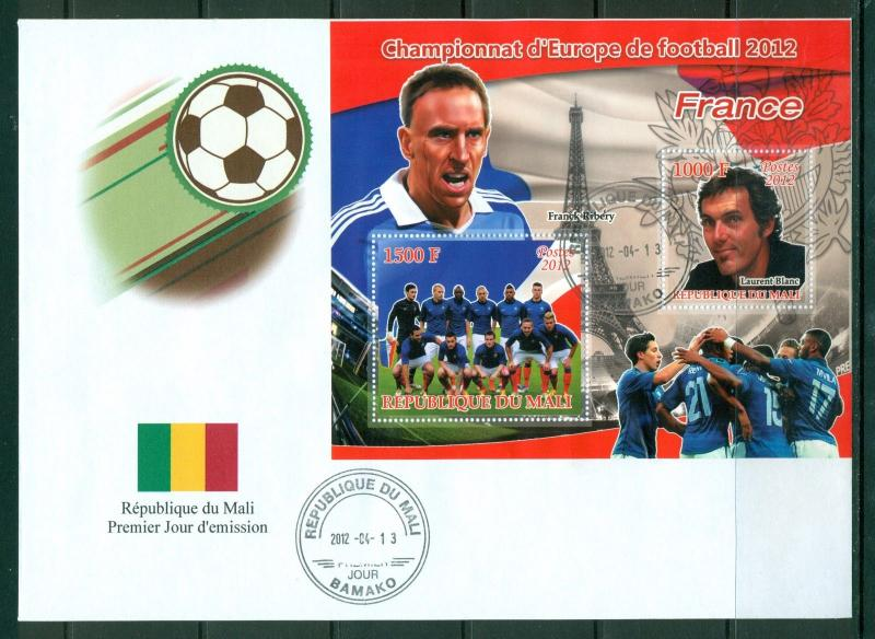 Mali First day cover EURO 2012 Soccer Football France national team