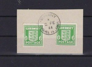 WAR OCCUPIED GUERNSEY 1941 /44  ISSUES USED STAMPS   REF R2924