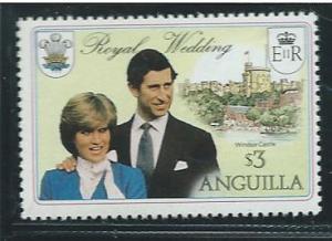 Anguilla #446  $3.00 Royal Wedding  (MNH)  CV $0.55