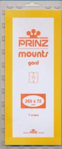 Prinz Scott Stamp Mount 72/265 BLACK Background Pack of 10