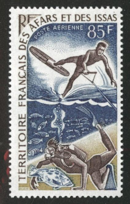 Afars and Issas Scott C52 MNH** Water sports stamp
