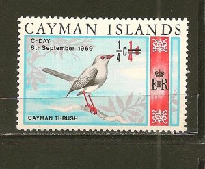 Cayman Islands 227 Surcharge 1/4 on 1/4 C Day Mint Hinged