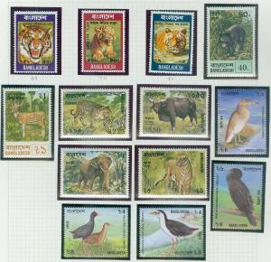 BANGLADESH : 3 Better Animal & Bird Topical Complete sets. Very Fine, Mint NH.