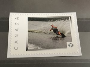 Canada Post Picture Postage * Water Skier  *P* denomination