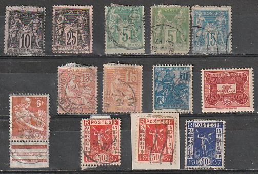 France used lot 12 (#91,99,78,105,92,117,134,245)