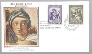 Vatican, 389-90, Michaelangelo Golden Series First Day Cover (FDC), Used
