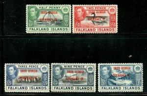 Falkland Islands lot, Mint No Gum. A20