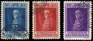 Liechtenstein 111-113 used
