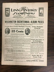 RARE EARLY Linn's Weekly Stamp News from April 16, 1932 - Philatelic History