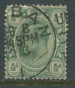 STAMP STATION PERTH Transvaal #281 Used KEVII 1905 Wmk 3 Multi Crown &CA CV$0.25