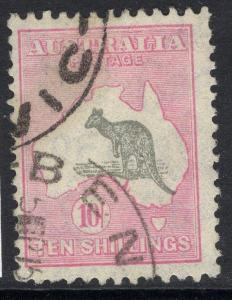 AUSTRALIA SG136 1932 10/= GREY & PINK FINE USED
