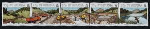 St Helena 645 MNH Harpers Earth Dam, Trucks, Excavator, Bird