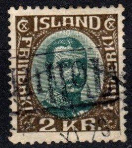 Iceland #186  F-VF Used CV $14.00  (X5728)