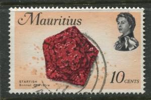 Mauritius - Scott 343 - QEII Pictorial Definitives -1969 -Used -Single 10c Stamp