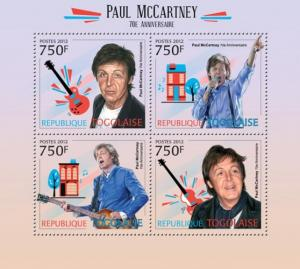 TOGO 2012 SHEET PAUL McCARTNEY SINGERS MUSIC tg12211a