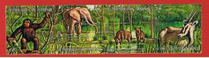 Burundi #358  VF Used strip of 4 Animals  Free S/H