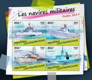Z08 CA190306a CENTRAL AFRICA 2019 Military ships MNH ** Postfrisch