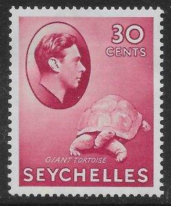 SEYCHELLES SG142 1938 30c CARMINE MTD MINT
