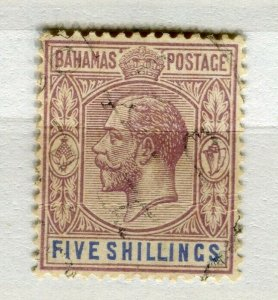 BAHRAIN; 1920s early classic GV issue fine used 5s. value