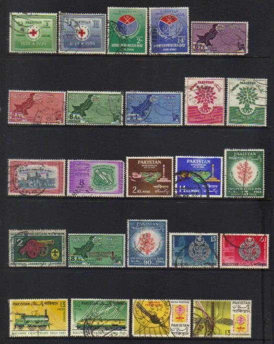 PAKISTAN 1959-1962 USED SELECTION INCL SETS