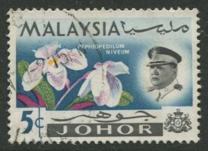 STAMP STATION PERTH Johore #171 Sultan Ismail Orchids Used 1965