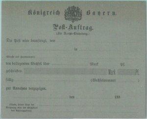 89217 - GERMANY Bayern - Postal History - STATIONERY Formular CARD Post Auftrag