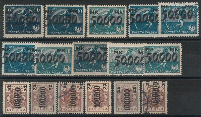 66219 - POLAND - Very Fine  STAMPS: INFLATION STAMPS from specialized collection
