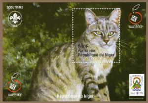 Niger 1998 YT#93 TABBY CAT/CHILE SCOUT JAMBOREE/ISRAEL '98 S/S Perf. MNH