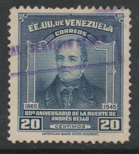 Venezuela 1946 20c used South America A4P53F34
