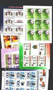 SOCCER URUGUAY FOOTBOLLER LEGENDS & clubs MNH sheetlet collection lot cv$130