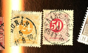 Sweden #24, 26 Used F-VF Cat $93