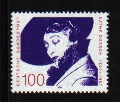 Germany  #1616  1990 MNH    Kathe Dorsch   complete