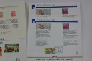 WW US Philatelic Exhibition stamp club Souvenir card sheet pages lot reprint