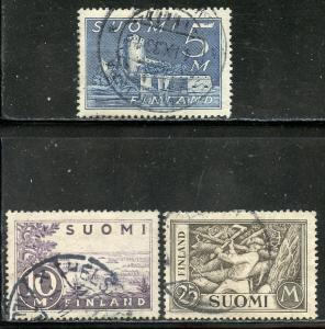 Finland # 177-9, Used. CV $ 5.50