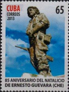 CUBA Sc# 5418  ERNESTO  CHÉ GUEVARA guerrilla warrior STATUE monument 2013  MNH