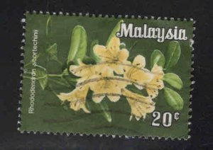 Malaysia Scott 196a Used 1983 Orchid Flower stamp No Watermark
