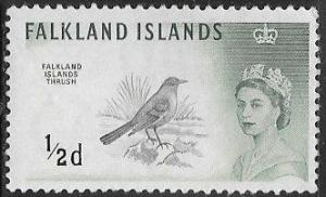 Falkland Islands 128 MNH - Bird - Elizabeth II