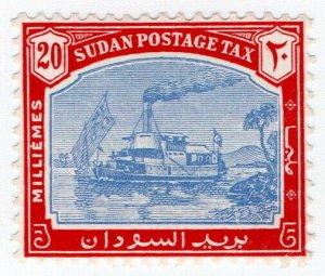 (I.B) Sudan Postal : Postage Due 20m