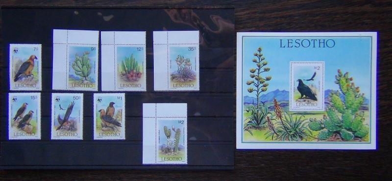 Lesotho 1986 Flora and Fauna of Lesotho set and Miniature Sheet MNH