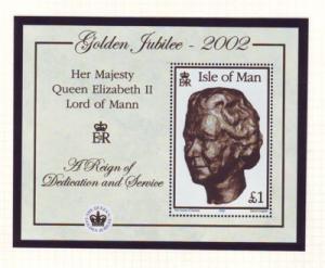 Isle of Man Sc 941 2002 50th Anniv QE II stamp sheet mint NH