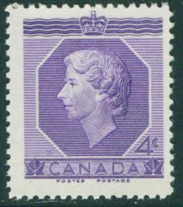 CANADA Scott 330 4c QE2 Coronation stamp MNH**